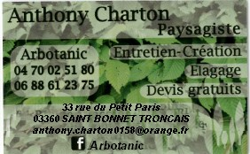 CARTE VISITE ANTHONY CHARTON