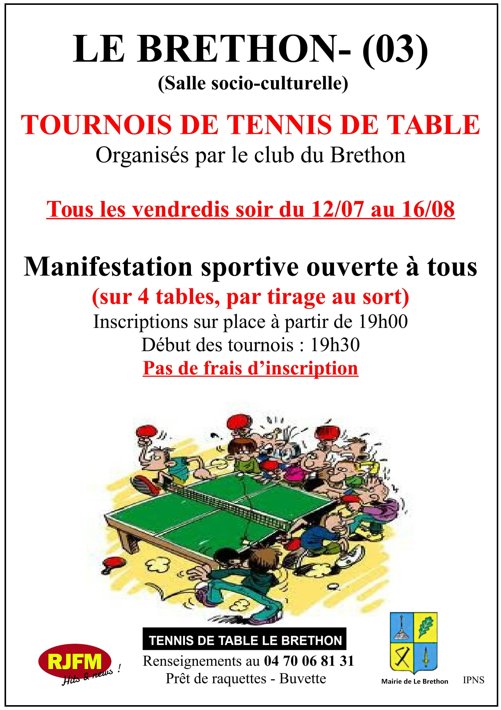 TOURNOI ETE 2019 facebook